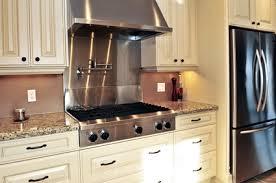 Stainless Steel Backsplash - Stainless steel cooktop backsplash