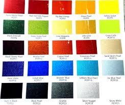 chart auto interior paint color chart