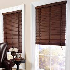 decor brown faux wood blinds with leather sofa also round side