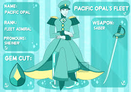 blue opal gemsona pacific opal u0027s fleet pacific opal by funkyfunking on deviantart