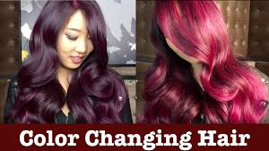 color changing hair youtube