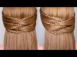 braided half up half down prom hairstyle youtube
