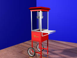 fashioned popcorn cart 3d model