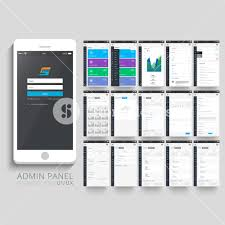 ui layout admin panel ui ux and gui template layout including different
