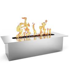 flame slim 8 inch bio ethanol fireplace burner insert 5 liter