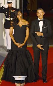 obama dresses obama wears vera wang gown at white house dinner