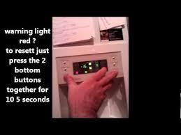 fridge red light fridge freezer rs21 model resetting the filter warning light