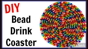 glam bead drink coaster easy diy project another coaster