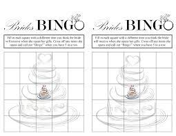 bridal shower bingo home