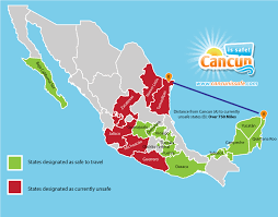 is it safe to travel to cancun images Map of us and cancun mexico jpg