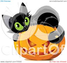 royalty free rf clipart illustration of a cute black kitten