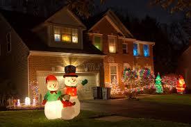 houses with christmas lights near me neighborhood christmas decorations stock image image of holiday