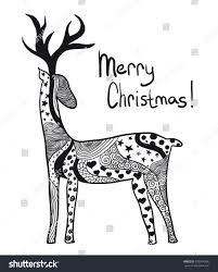 ornamental deer stock vector 232204996