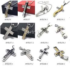steel cross necklace images Wholesale new design cool men 39 s jewelry 316l stainless steel cross jpg