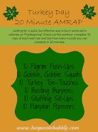 Thanksgiving Foundation Turkey Day 20 Minute Amrap Workout At Home No Equipment
