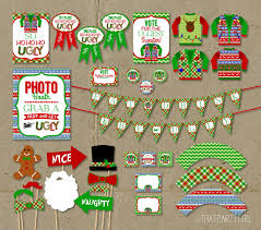 ugly sweater party package holiday decorations favors awards