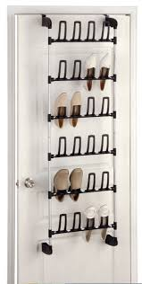 Door Shoe Organizer Shoe Storage Door Shoe Racks For Closets Rack Walmart Over The