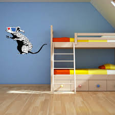 banksy home decor rat with 3d glasses wall decal banksy wall art sticker vinyl