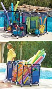 Best Toy Organizer by These Mesh Pool Toy Storage Bins Are Large Enough To Hold