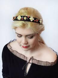 velvet headband christmas headband women baroque headband black velvet