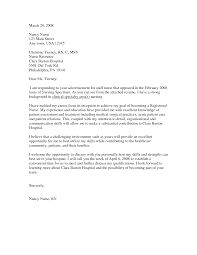 cover letter changing careers examples writing your nursing cover letter recentresumes com