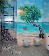 bathroom wall mural ideas bathroom custom painted wall mural painted wall mural idea