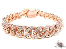 rose gold bracelet with diamonds images Diamond miami link bracelet 7 20 ct diamond czar jpg