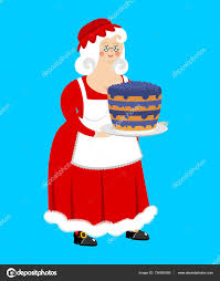 mrs claus and blueberry cake wife of santa claus and dessert