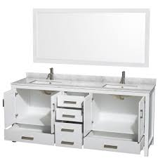 wyndham collection sheffield 80 inch double bathroom vanity in