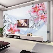 modern minimalis wallpaper bedroom wall murals water flower