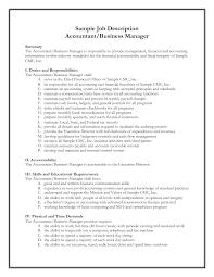 Clerk Responsibilities Resume Resume Accounting Duties For Resume
