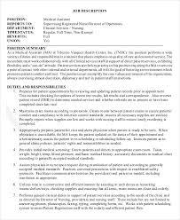 Staff Nurse Job Description For Resume by Director Of Nursing Job Description Job Description Job Title
