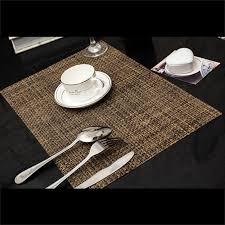 table mats and coasters pvc insulation pad placemat green dining table kitchen placemats