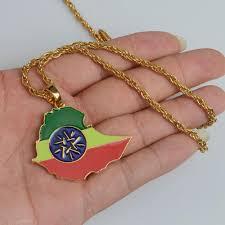 Paraguayan Flag Ethiopia Map With Flag Pendant Necklaces U2013 Sophiedeals Com