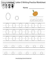 letter o worksheets for preschool kindergarten printable