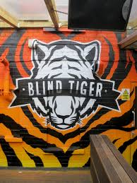 blind tiger newport cardiff graffiti art murals logo reproduction and tiger skin style wall mural commission at newports blind tiger bar