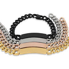 mens rose gold bracelet images Men 39 s rose gold bracelets ebay jpg