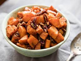 smoky spiced pecan roasted sweet potatoes recipe serious eats