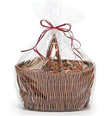 empty gift baskets empty gift basket 2 colored wicker with handles