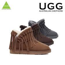 australian shepherd ebay ugg boots 100 sheepskin short fringe ankle australian ladies size