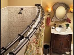 curtain ideas for bathrooms curtain rod shower curtain rod ideas