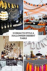 15 ideas to style a halloween dessert table shelterness