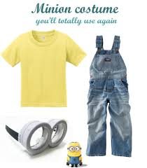 minion costume where to buy or how to make a minions costume rookie