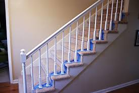 Stairway Banister Painting Handrails How To Paint Stairway Railings Bower Power