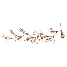 5 autumn harvest artificial berries and leaves rustic twig