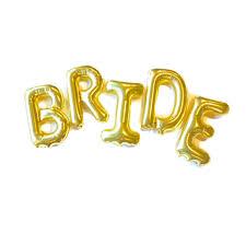 bridal shower balloons bride balloon rose gold or gold letter