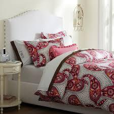 Pottery Barn College Bedding Retro Paisley Duvet Cover Pillowcases Pbteen