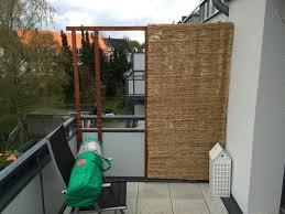balkon sichtschutz balkon sichtschutz aus bambus selber bauen anleitung mit