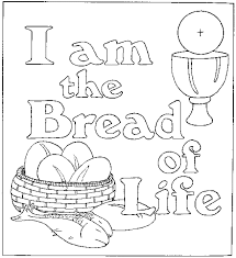 Jesus Is The Bread Of Life Coloring Pages Bread Coloring Page
