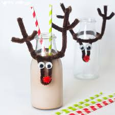 Kids Reindeer Crafts - christmas reindeer bottle toppers kids craft room